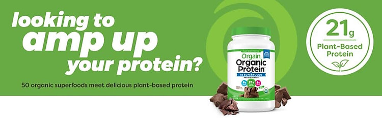Bột Protein hữu cơ Orgain Organic Protein 50 Superfoods 1.2kg Chocolate